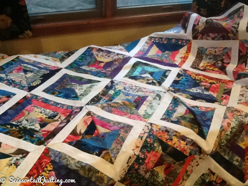 Photo of String Quilt made from scraps