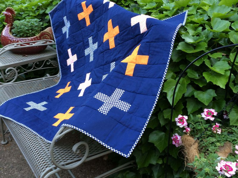 Photo of Plus Sign Baby Quilt