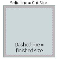 Image showing Cut & Finished Size Lines