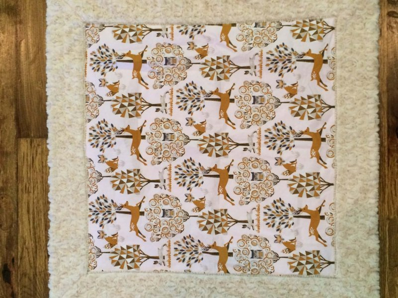 Photo of Self Binding Baby Blanket made with Minky Cuddle Fabric