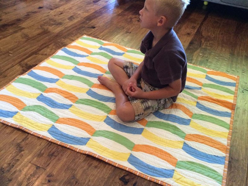 Photo of Quilt made with Quick Curve Ruler