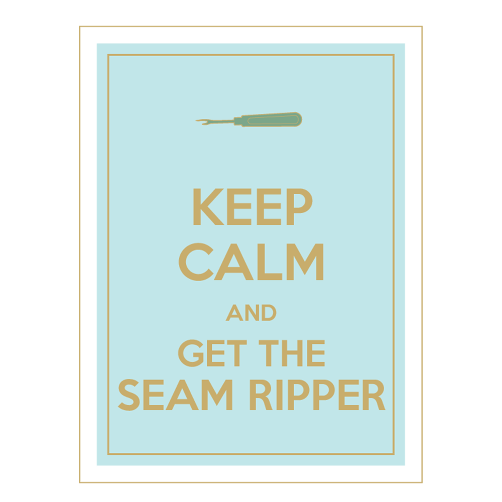 Image of Keep Calm Sewing Poster