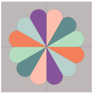 Image of 3 Petal Dresden Flower Plate