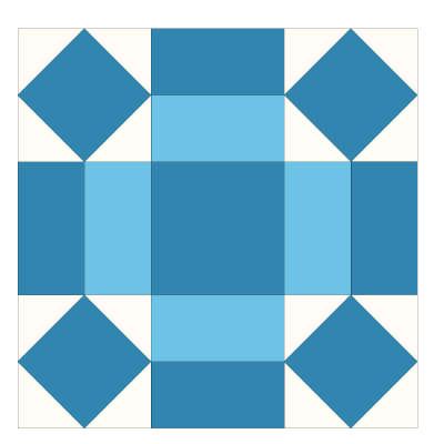 Image of The Rolling Stone Quilt block