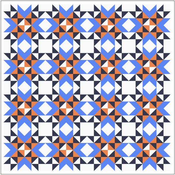 Illustration of Straight Set Grouping of Wyoming Valley Quilt Blocks