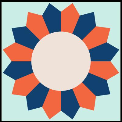 Image of Four Blade Dresden Fan Quilt Block Unit