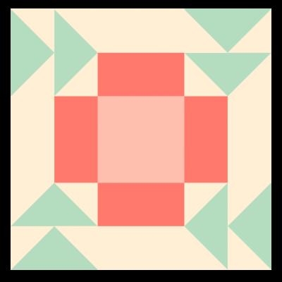 Image of The Apple Pie Quilt Block