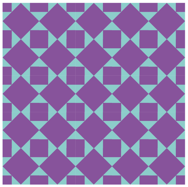 Illustration of a grouping of the art square quilt block