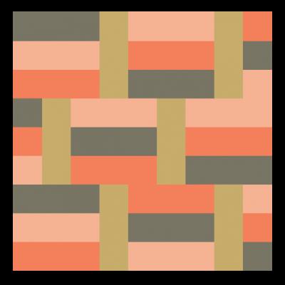 Image of Basketweave Quilt Block