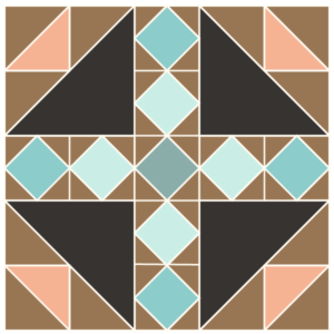Image ofExploded version of the Bird's Nest Quilt Block Exploded