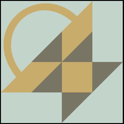 Illustration of the Bread Basket Quilt Block
