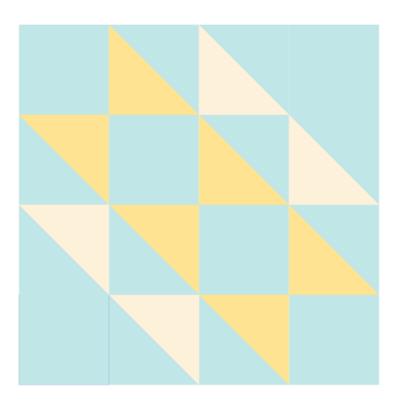 Illustration of the Hovering Hawks Quilt Block