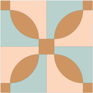 Illustration of the Idaho Quilt Block
