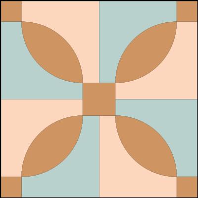 Illustration of the Idaho Quilt Block