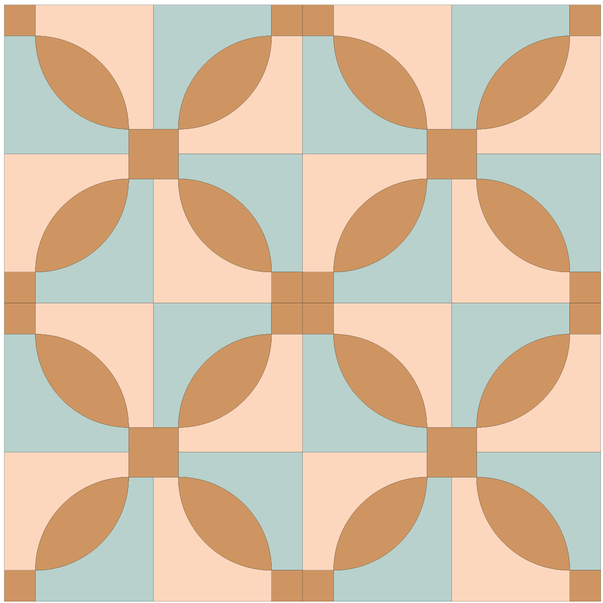Illustration of a quilt made with Idaho Quilt Blocks