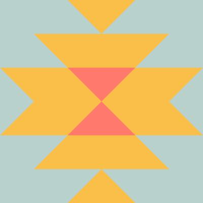 Image of Squash Blossom Quilt Block