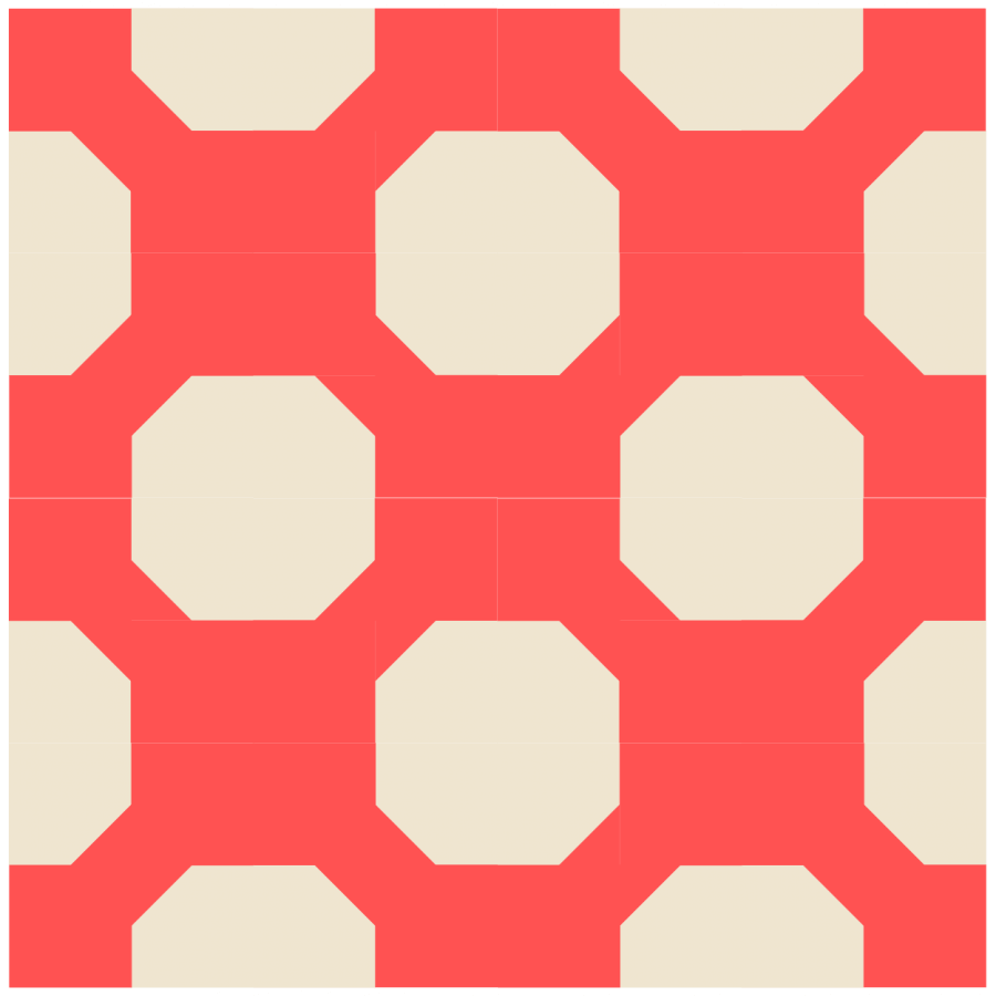 illustration of a Grouping of bowtie quilt blocks