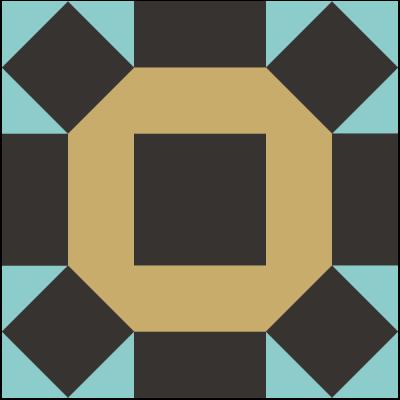 Image of The Broken Wheel Quilt Block