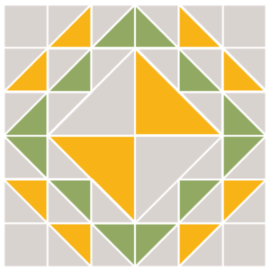 Image of Exploded version of the Corn and Beans Quilt Block