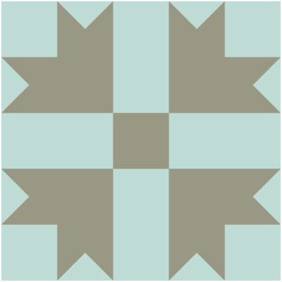 Image of The Cross and Crown Quilt Block