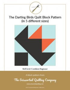 Click to download the Darting Birds Quilt Block Pattern