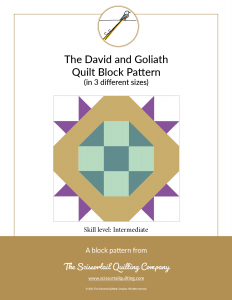 Click to download cutting Sheets for the David and Goliath Quilt Block