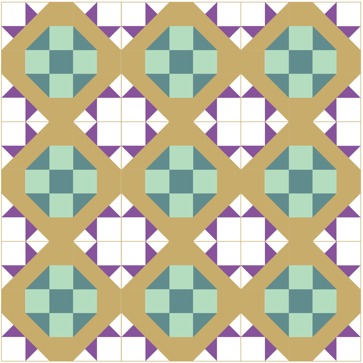 Grouping of David and Goliath Quilt Blocks