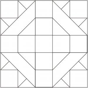 outlined version of David and Goliath quilt Block