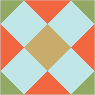 Image of The Double Cross Quilt Block