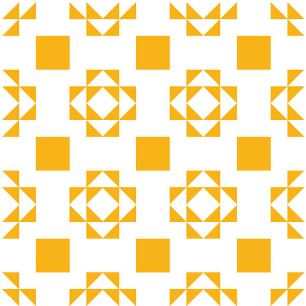 Illustration of a Grouping of Double X Quilt Blocks