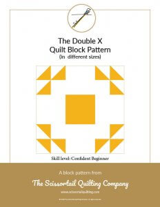 Click to download pattern for the Double X Quilt Block