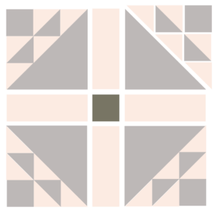 Image of Exploded version of The Dove in a Window Quilt Block
