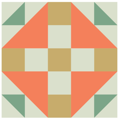 Image of Duck and Ducklings Quilt Block
