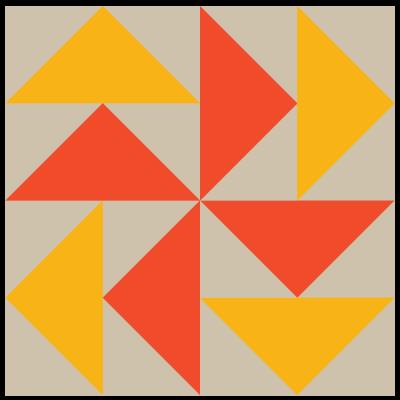 Image of The Dutchman's Puzzle Quilt Block