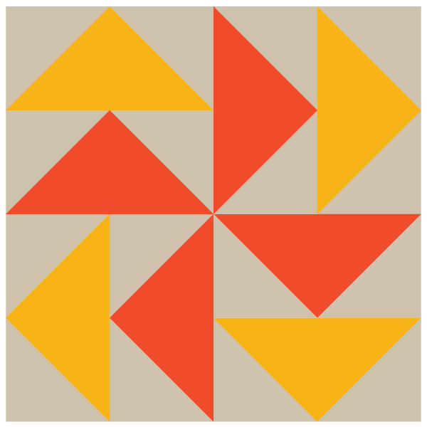 Image of The Dutchman's Puzzle Quilt Block