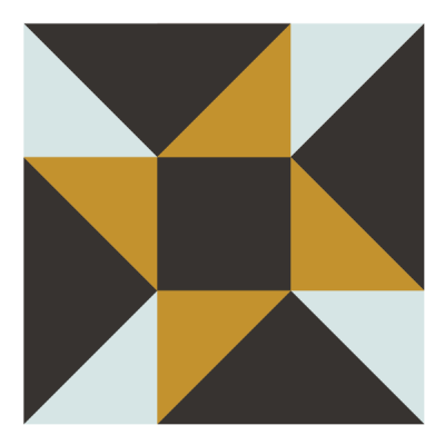 Image of The Eccentric Star Quilt Block