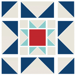 Image of Exploded version of the Eight Hands Around Quilt Block