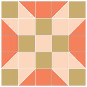 Image of the Farmer's Daughter Quilt Block Pattern