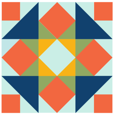 Image of The five spot quilt block