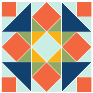 Image of Exploded version of the Five Spot quilt block