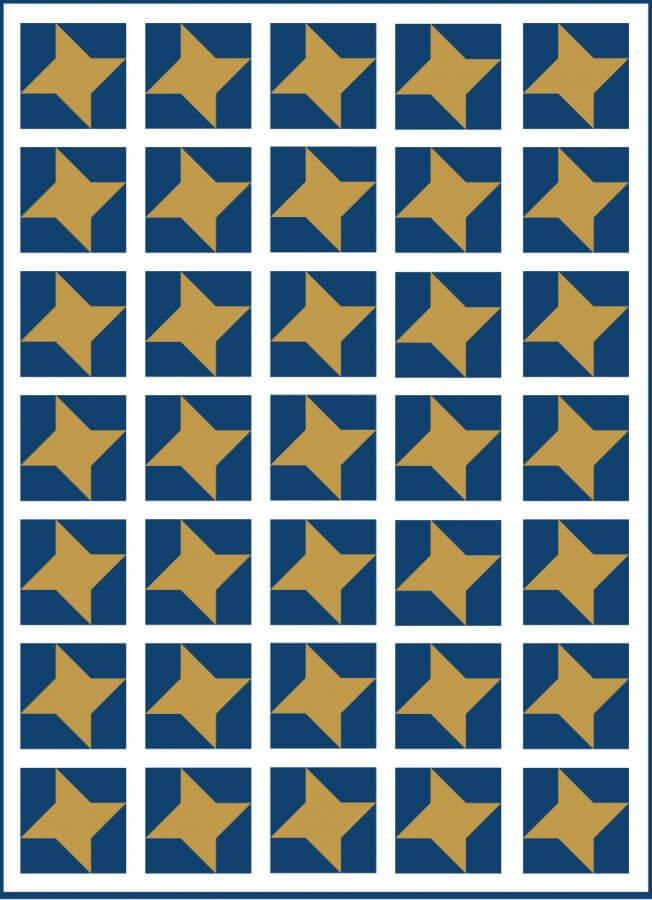 Illustration of A Simple Quilt Design using Friendship Star Quilt Blocks