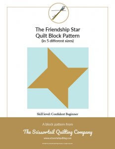 Click to download pattern for the Friendship Star Quilt Block