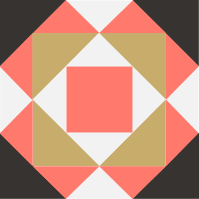 Image of The Gentleman's Fancy Quilt Block