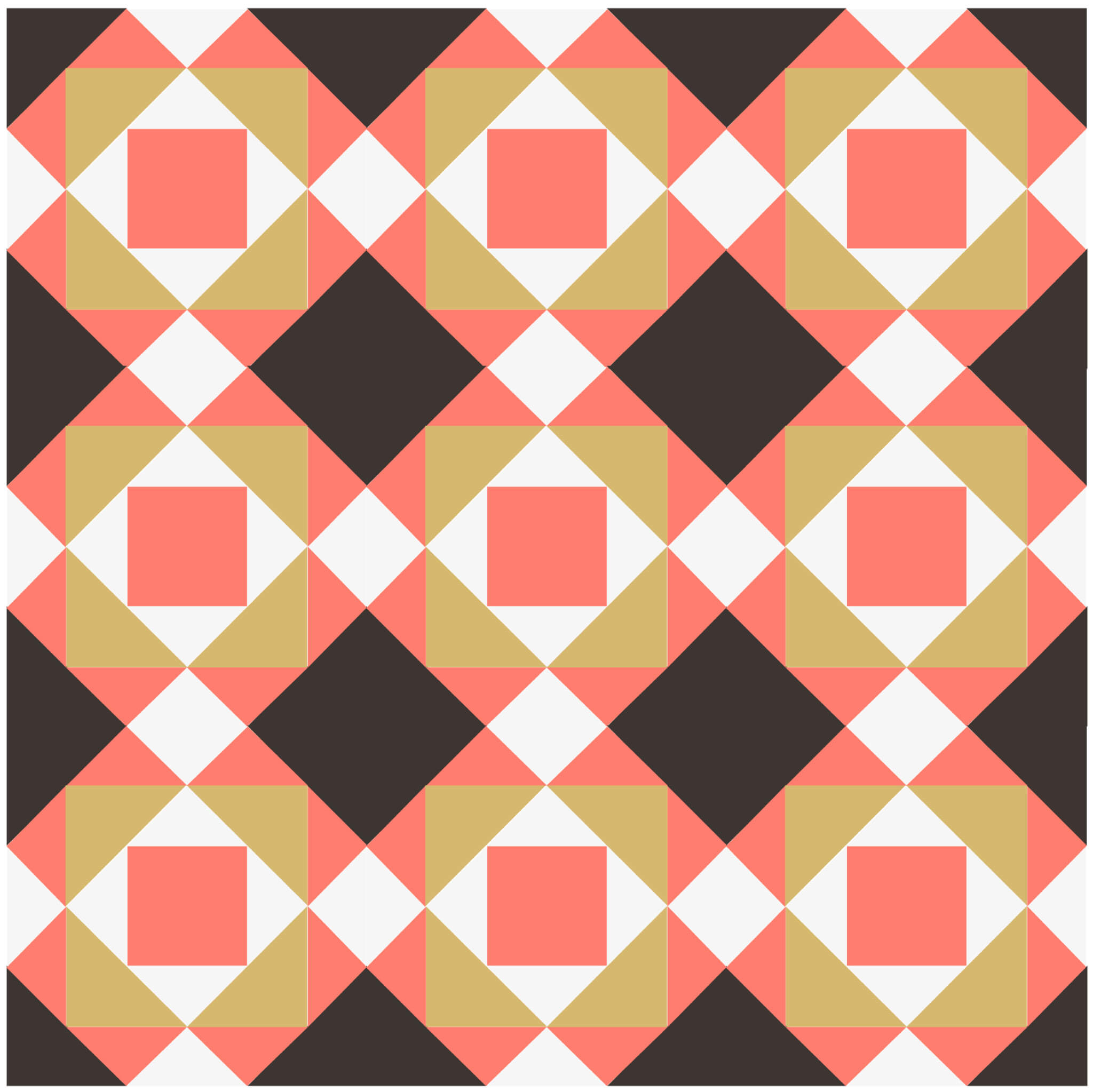 Illustration of a quilt made with Gentleman's Fancy Quilt Blocks