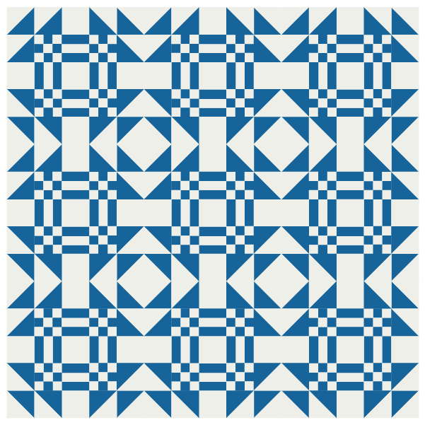 Illustration of a quilt made with Goos in the Pond quilt blocks
