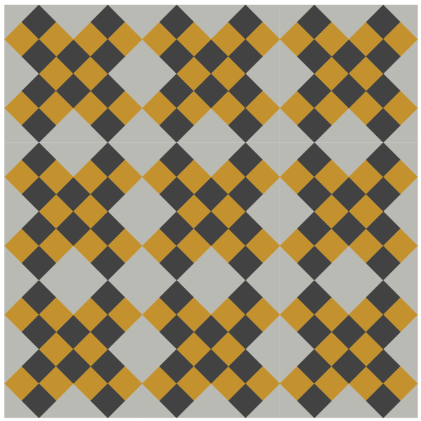 Illustration of a quilt made with Grandmother's Cross Quilt Block