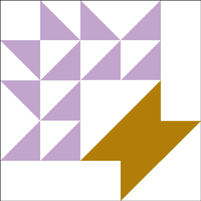 Image of The Grape Basket Quilt Block