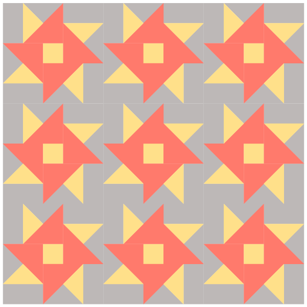 Illustration of quilt made with Hartford Quilt Blocks