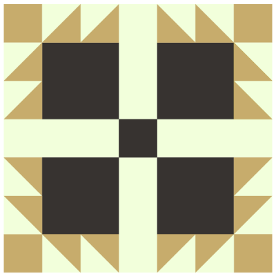 Image of Hens and Chickens Quilt Block