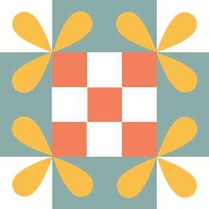 Image of The Honey Bee Quilt Block